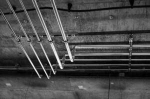 copper plumbing pipework